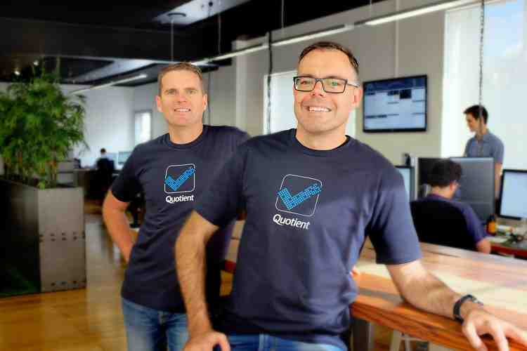 Quotient co-founders, Dale Vink and Nathan Carter