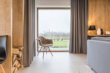 Full length, heavy, custom, blackout, curtains, in trendy cozy home