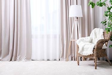Light, airy, full length, custom curtains
