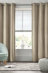 Full length custom made curtains in thick deluxe fabric