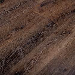Rich dark red reclaimed oak lumber woodgrain flooring