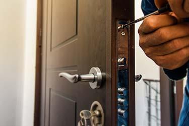 Door lock up close